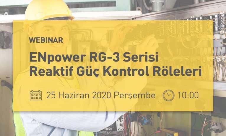 Webinar: ENpower RG-3 Serisi Reaktif Güç Kontrol Röleleri